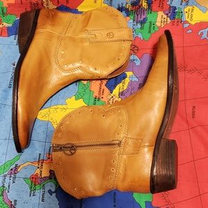 Lucky Brand Leather Booties size 8